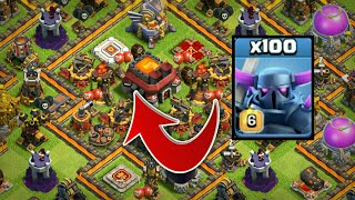 Can pekka survive this huge base - COC