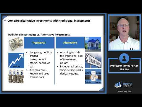 CFA Level 1 (2019) Reading 50 – Introduction to Alternative Investments