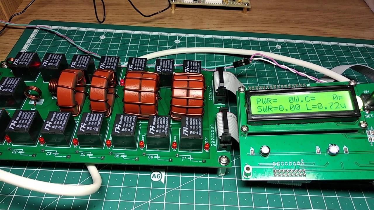 Строим автоматический антенный тюнер на 300-500 Вт. Часть 2 -  первое включение, проверка работы.