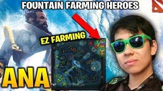 Ana Kunkka Fountain Farming Heroes in Pub Game like a Boss