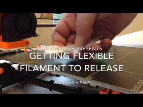 How to remove sticky flexible filament - an easy solution (3D printing tip)