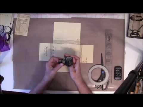 How To Make a 6x4 Photo Folio Mini Album - Base tutorial