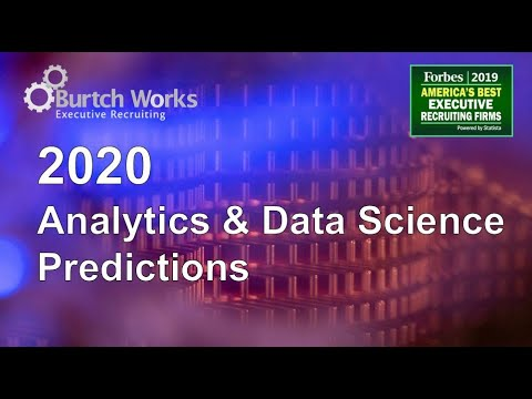 2020 Predictions: Top Data Science & Analytics Trends