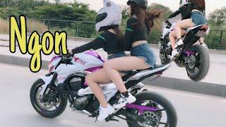 Thanh Niên Dại Cho Gia Hân Mượn Kawasaki Z800 Màu Hồng | MinhBiker