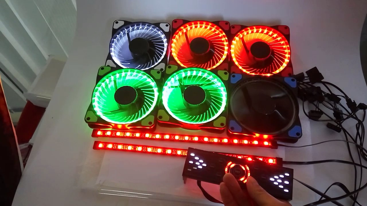 Alseye Computer Fan Controller Control 6 Rgb Case Fan And