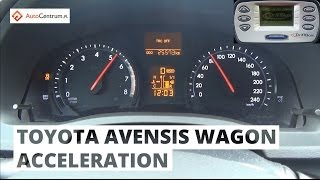 Toyota Avensis Wagon 2.0 152 hp - acceleration 0-100 km/h