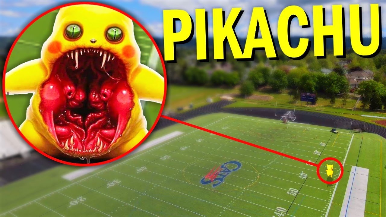 Drone Catches CURSED PIKACHU At HAUNTED HIGH SCHOOL!! *POKEMON IN REAL LIFE*