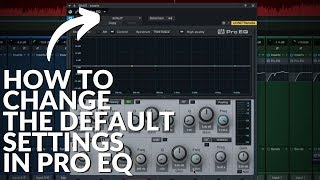 Studio One Minute: How to change the default settings in ProEQ