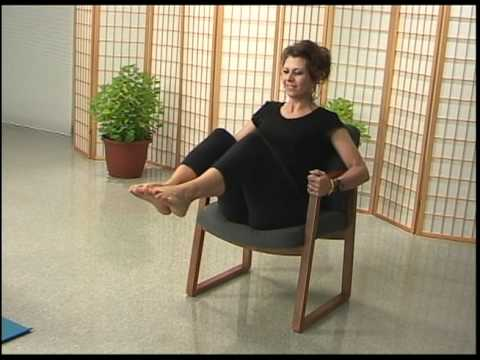 MBSR Yoga #1 with camera emphasis on chair poses