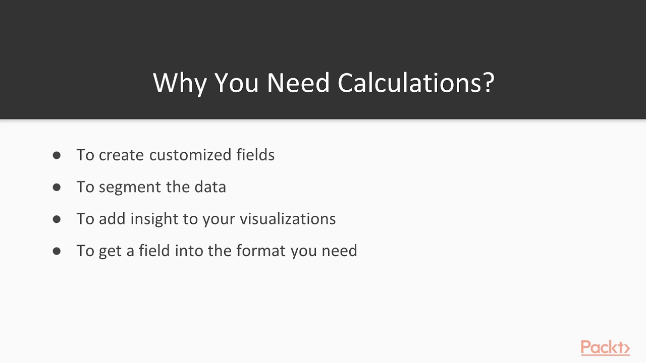 Learning Tableau 10 x: Introduction to Calculations|packtpub com