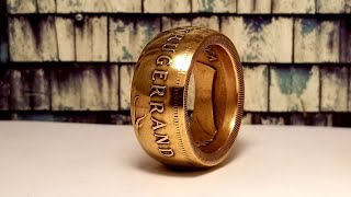 Making a 1 oz Gold Krugerrand into a Coin Ring