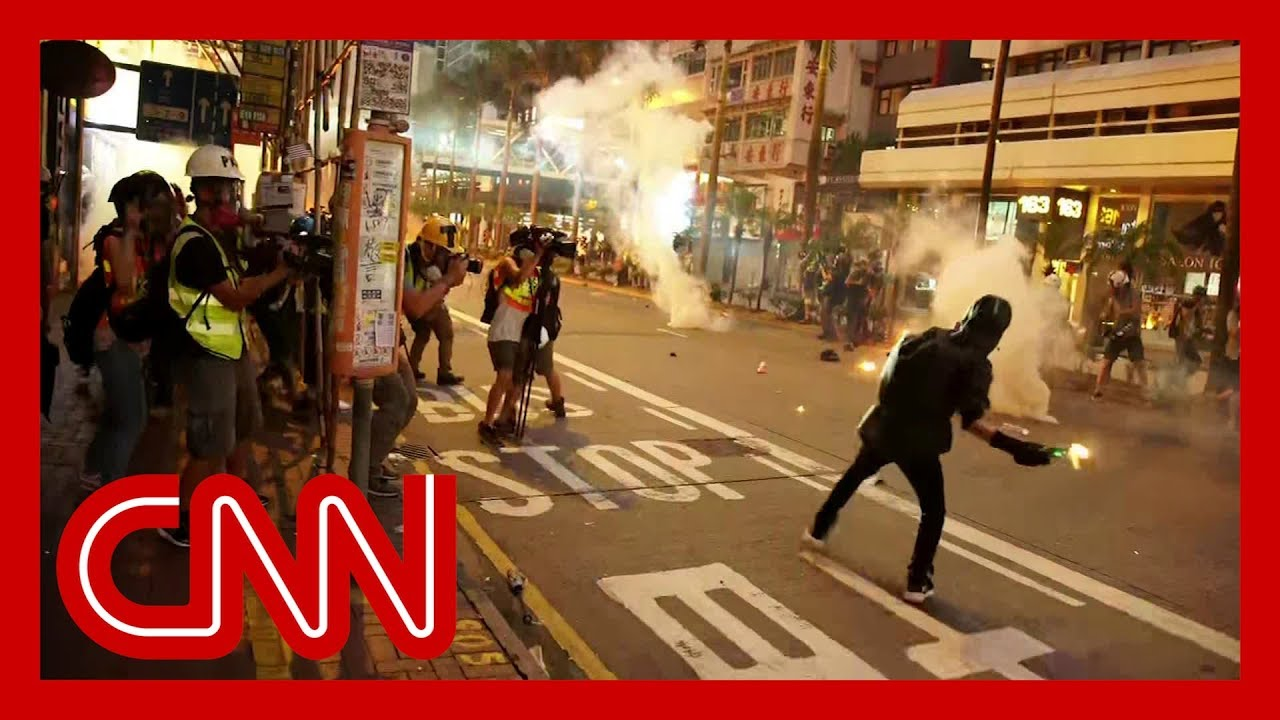 Hong Kong protesters clash with police for the 17th straight week