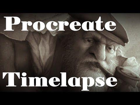 IPad Procreate Timelapse - Industrial Dwarven Worker