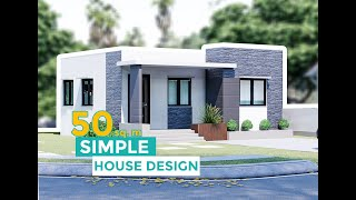 A Small House Design  50 Sq.m.
