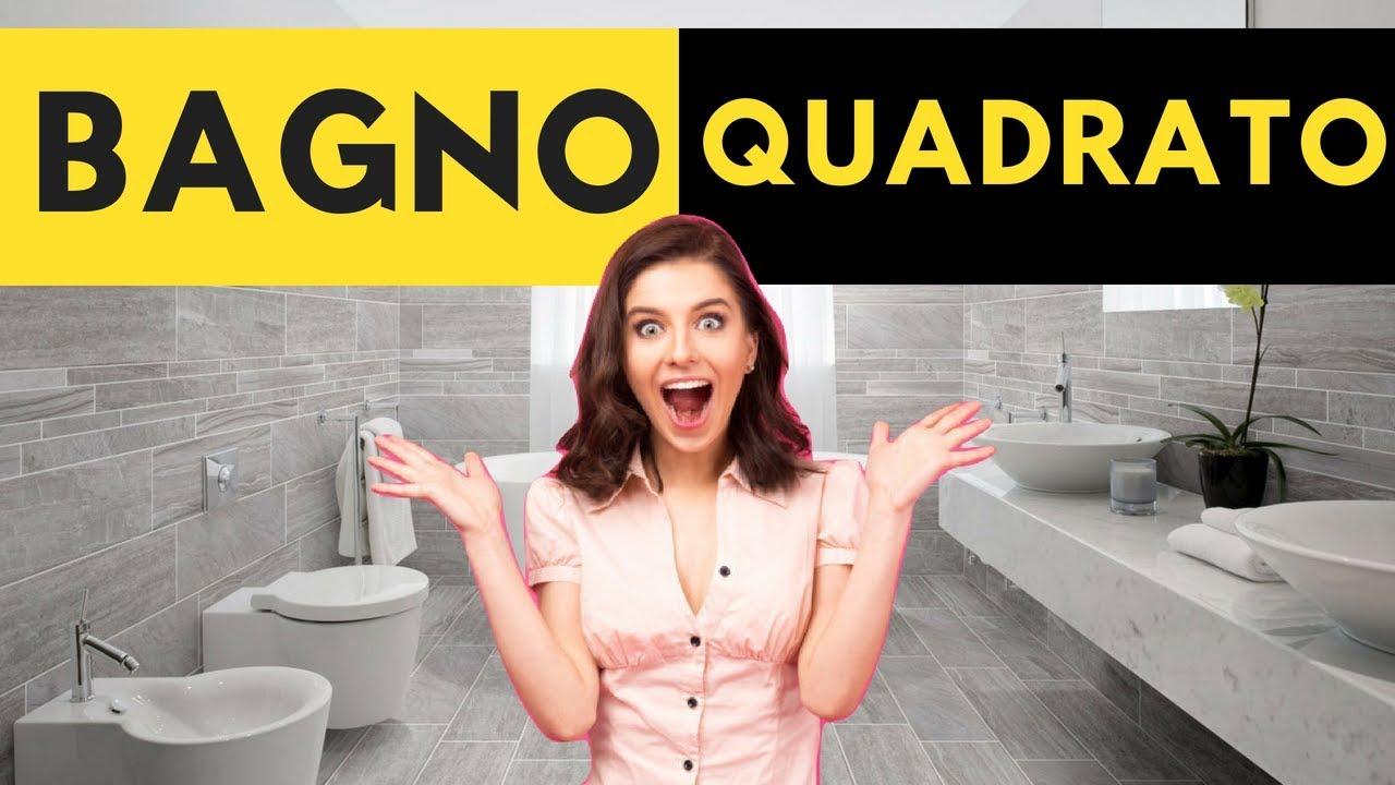 come arredare un bagno quadrato anche minuscolo youtube