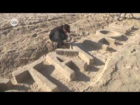 فنان فلسطيني يستخدم الرمال لحض سكان غزة على البقاء في المنزل  - 02:59-2020 / 4 / 8