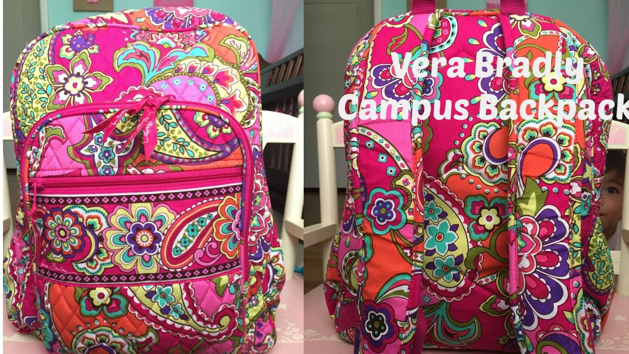 Vera Bradley Campus backpack review - YouTube 9c7e550873