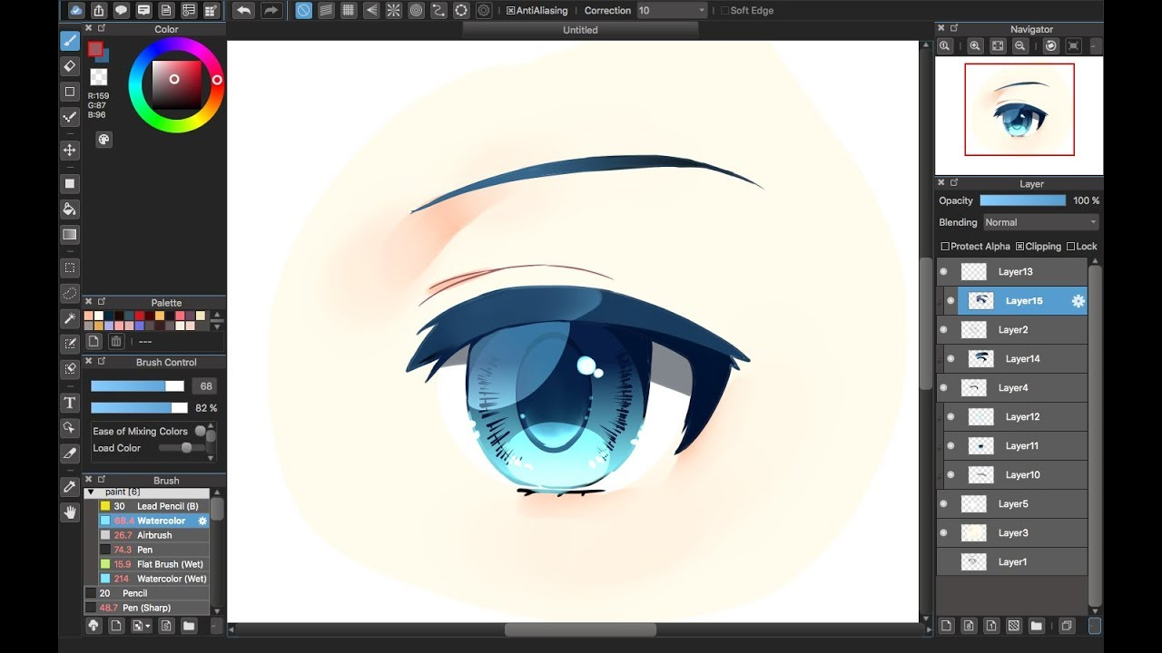 Medibang Paint Pro Desktop Version How To Eye Color Tutorial