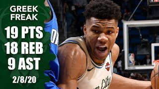 Giannis Antetokounmpo puts up 9th straight double-double for Bucks vs Magic | 2019-20 NBA Highlights