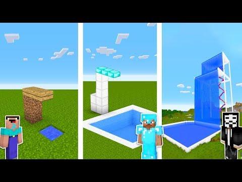 Minecraft NOOB vs PRO vs HACKER : SWIMMING POOL CHALLENGE in minecraft / Animation thumbnail