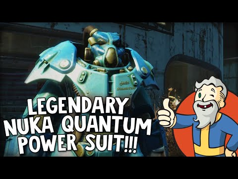 "Fallout 4 Nuka World DLC ""LEGENDARY NUKA QUANTUM POWER SUIT!!!"""