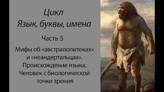 Мифы о «неандертальцах». Человек с биологической точки зрения (Язык, буквы, имена: Часть 5)