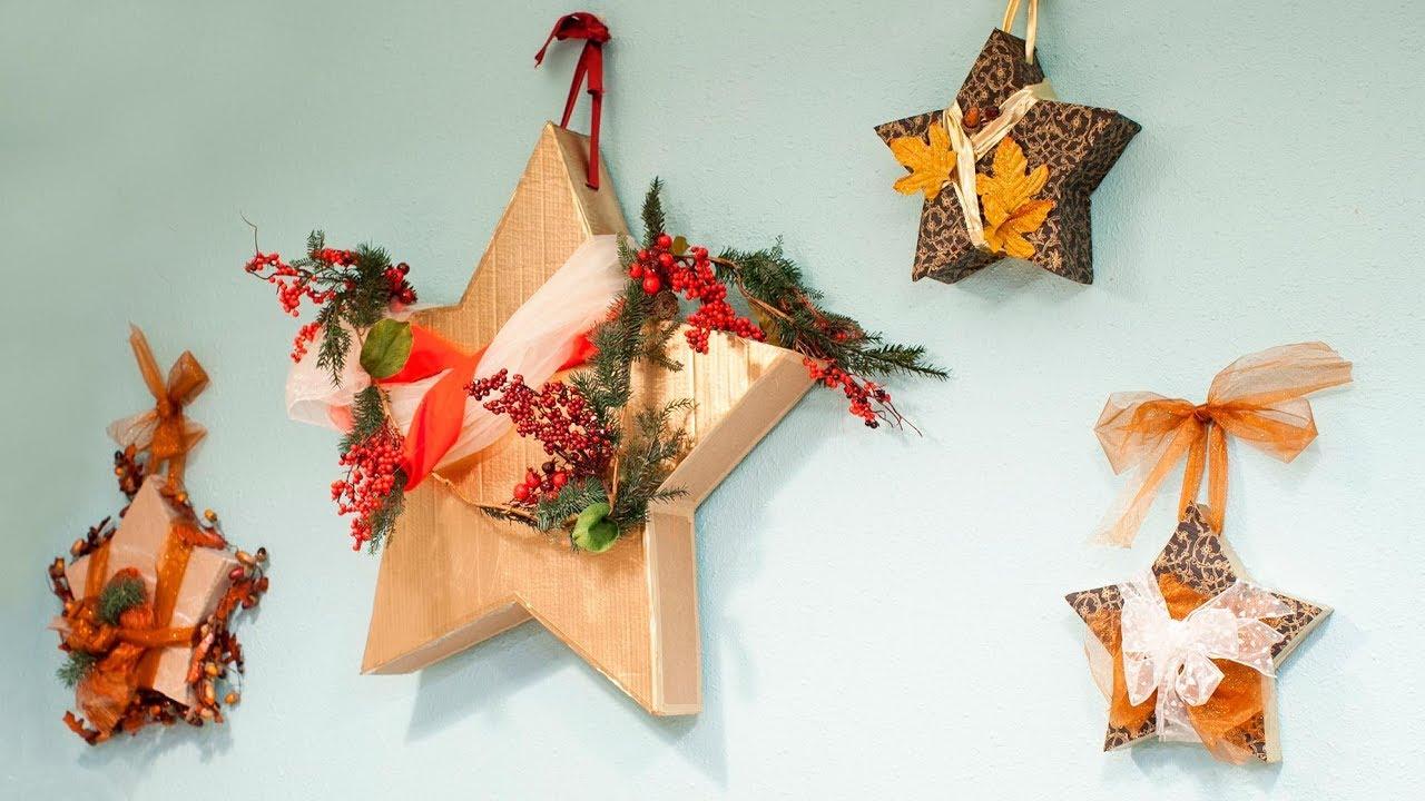 Decorar Estrellas De Navidad En Cartulina.Como Hacer Estrellas De Navidad De Carton En 3d Decogarden