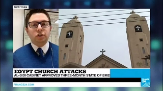 Egypt Church Attacks  Three month state of emergency approved