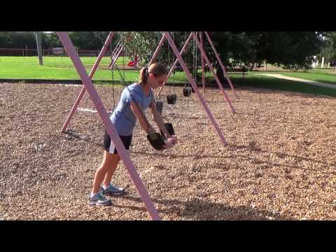 Core Exercises with a Swing Set