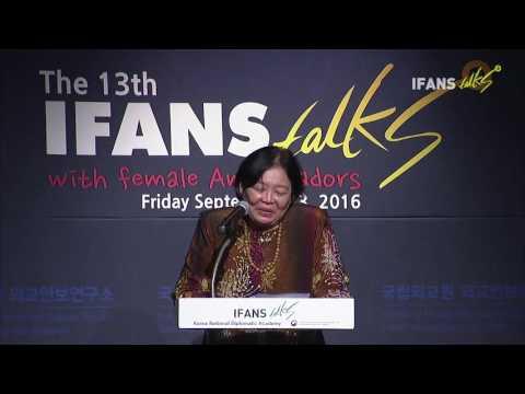 The 13th IFANS Talks with female Ambassadors(23 Sep. 2016, Dato Rohana Ramli)