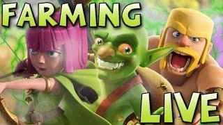 [CLASH OF CLANS ] FARMING EN LIVE HDV 9 #3