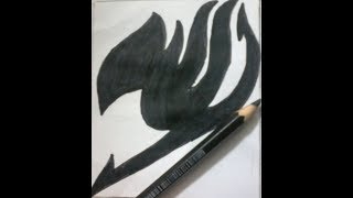 How to draw Fairy Tail logo - Requested by : Fairy Tail draw