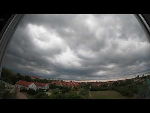 Stormy timelapse Hungary, Kecskemét