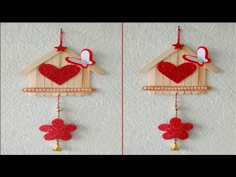 ice--cream-stick-wall-hanging//-popsicle-stick-wall-hanging//-diy-wall-hanging
