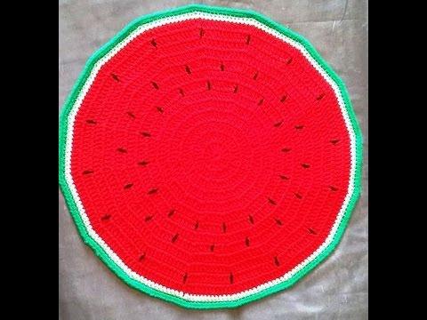 Crochet Set de table en forme de pastèque