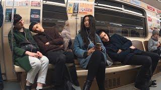ПРАНК: СПИТ На Людях В МЕТРО 2 | Sleeping on Strangers in the Subway 2