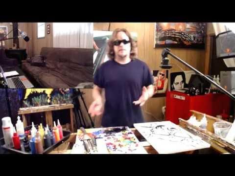 John Bramblitt Live Stream - Chihuahua Sunglasses Painting