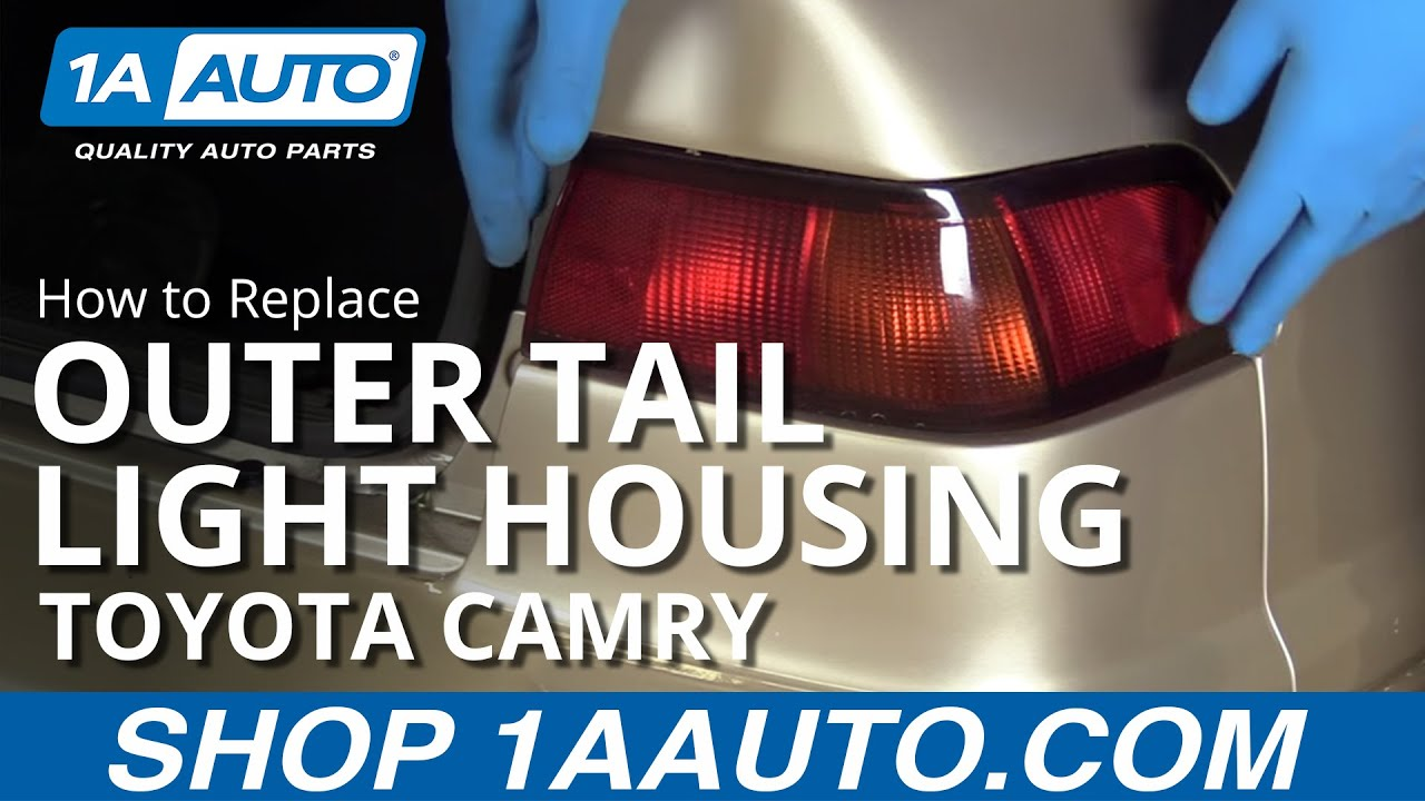 how to replace outer tail light 97 99 toyota camry youtube tail light wiring diagram 99 camry [ 1280 x 720 Pixel ]