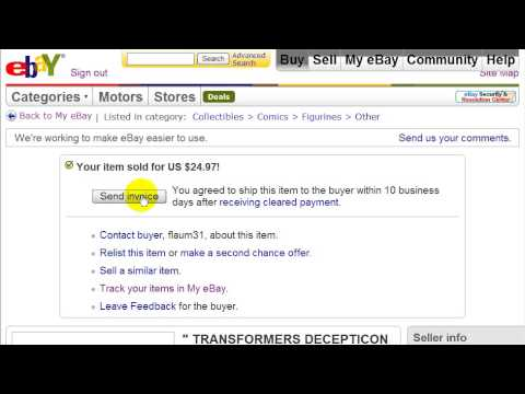 Ebay Training Videos Watch Me Send An Invoice To A Customer Video 25 Youtube