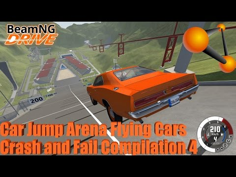 BeamNG Drive: Updated Car Jump Arena Flying Cars Crash and Fail Compilation 4