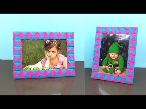 Paper Photo Frame How to Make Easy - DIY Paper Crafts Handmade Photo Frame