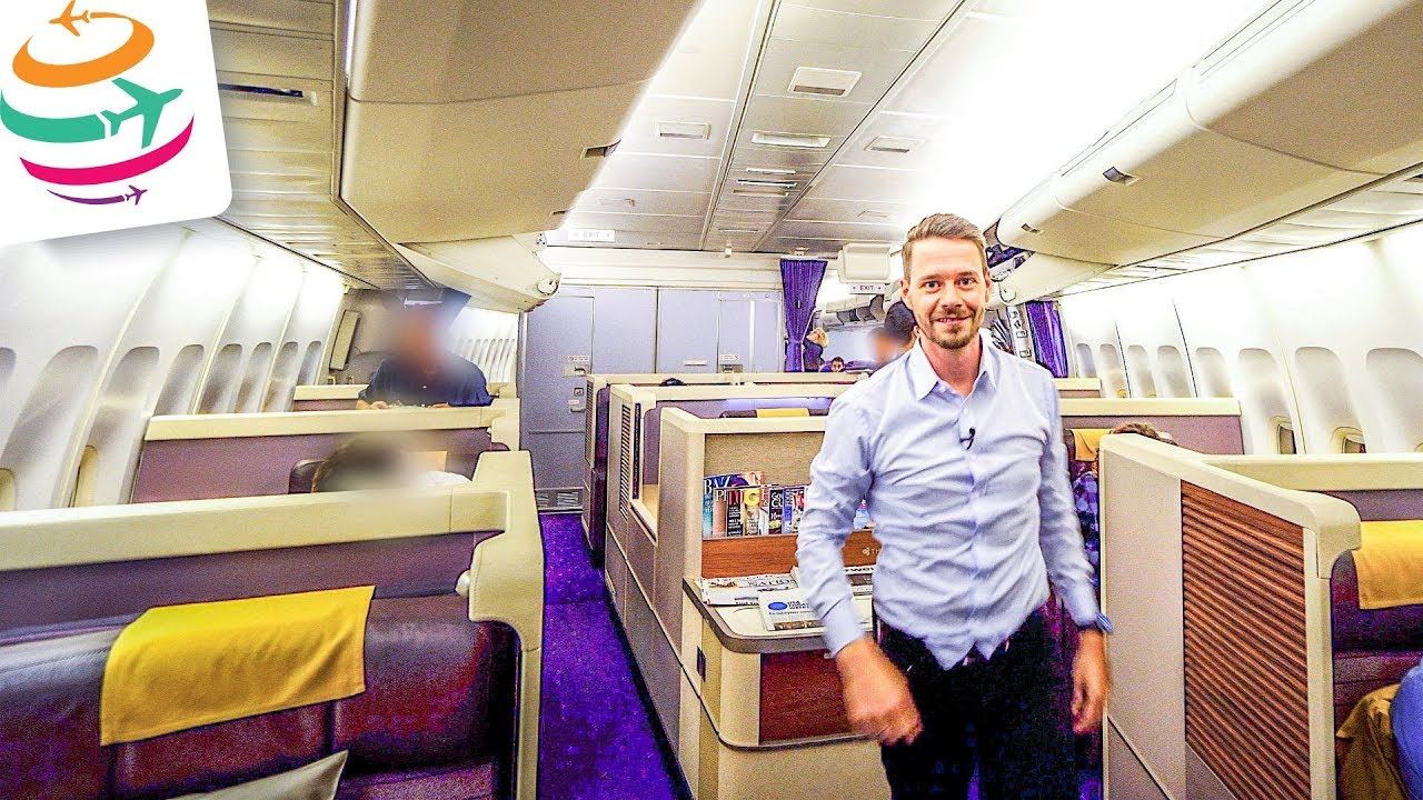 Thai Airways Royal First Class Eng 747 400 Yourtravel Tv