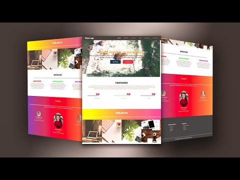 Mobile First Bootstrap 4.3 FlexBox Responsive Website - Video Background - HTML/CSS