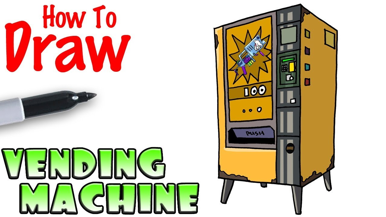 How To Draw Vending Machine Fortnite Youtube