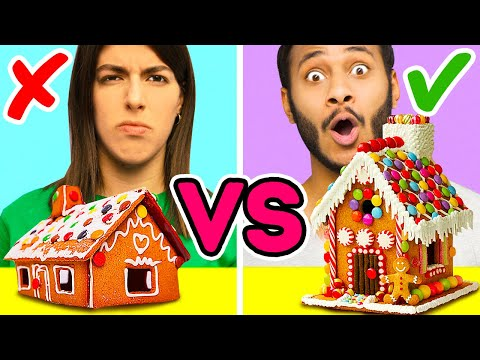 34 CUTE WAYS TO GET INTO THE CHRISTMAS SPIRIT || GINGERBREAD HOUSE CHALLENGE