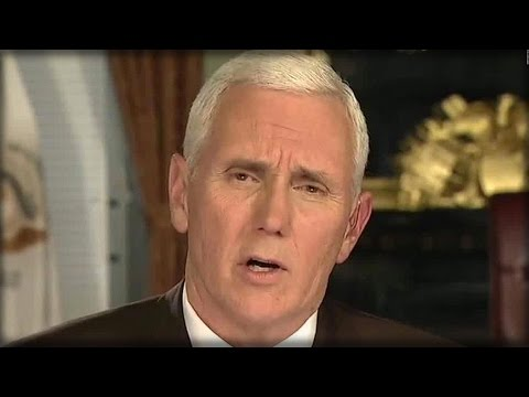 PENCE GETS DIRECTLY CONFRONTED ABOUT TRUMP