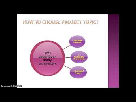 How Do I Choose Final Year Project Topic In Any Branch Of Engineering ?