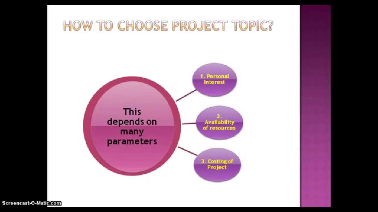 How to choose final year project topic in any branch of engineering ...