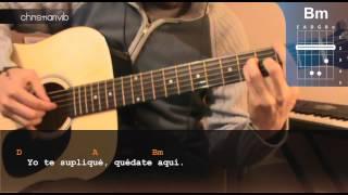 "Cómo tocar ""Te fuiste de aquí"" de Reik en Guitarra (HD) Tutorial - Christianvib"