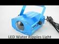 Led water ripples light unboxing (deutsch)